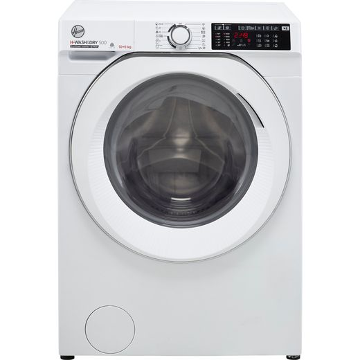 Hoover H-WASH 500 HD4106AMC/1 Wifi Connected 10Kg / 6Kg Washer Dryer with 1400 rpm - White - D Rated
