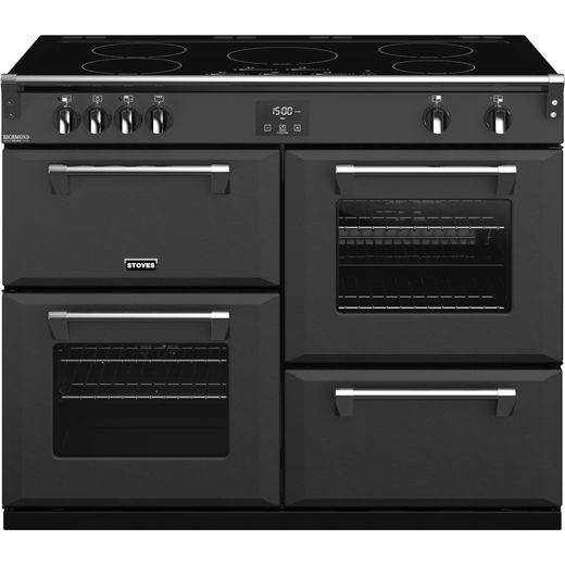 Stoves Colour Boutique Collection Richmond Deluxe S1100Ei CB 110cm Electric Range Cooker with Induction Hob - Anthracite - A Rated