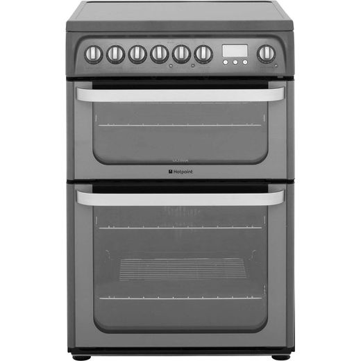 Hotpoint Ultima HUE61GS Electric Cooker with Ceramic Hob - Graphite - A/A Rated