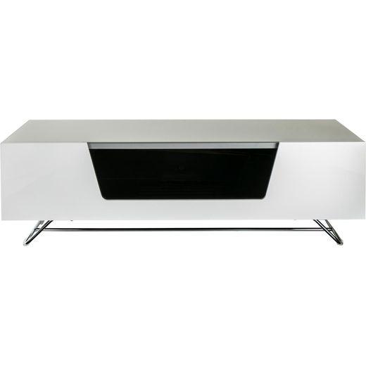 Alphason Chronium CRO2-1200CB-WHT 2 Shelf TV Stand - White