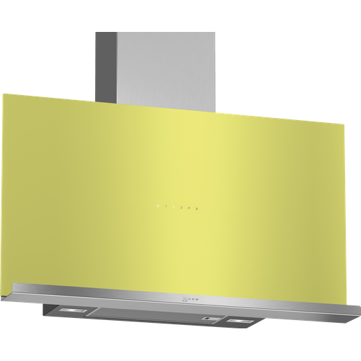 NEFF N70 D95FRM1G0B 89 cm Angled Chimney Cooker Hood - Green - A Rated