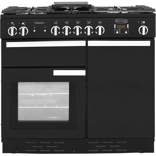 Rangemaster Professional Plus PROP100DFFGB/C 100cm Dual Fuel Range Cooker - Black - A/A Rated