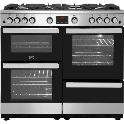 Belling Cookcentre100G 100cm Gas Range Cooker - Stainless Steel - A/A Rated