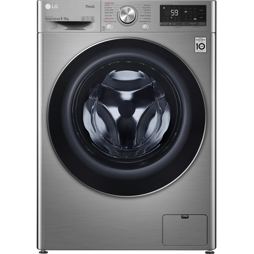 LG V6 FWV696SSE Wifi Connected 9Kg / 6Kg Washer Dryer with 1400 rpm - Graphite - B Rated