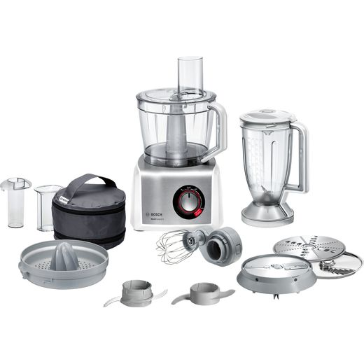 Bosch MC812S734G 3.9 Litre Food Processor With 9 Accessories - White / Stainless Steel
