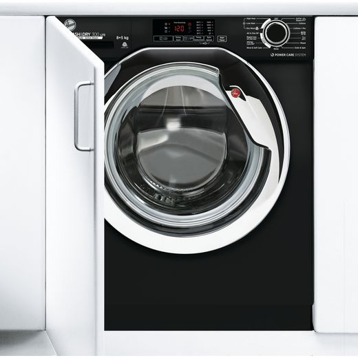 Hoover H-WASH&DRY 300 LITE HBDS485D1ACBE Integrated 8Kg / 5Kg Washer Dryer with 1400 rpm - Black - E Rated