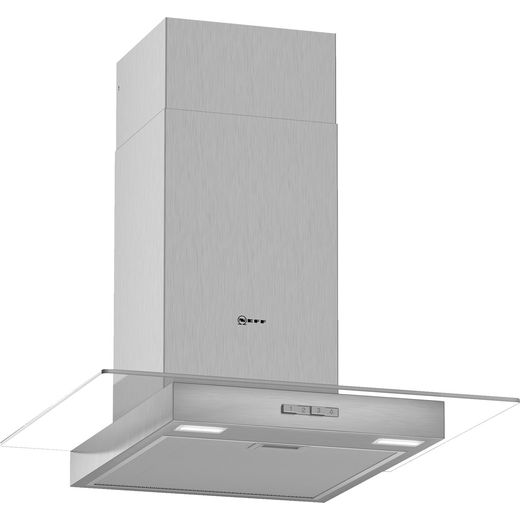 NEFF N30 D64GBC0N0B 60 cm Chimney Cooker Hood - Stainless Steel - A Rated