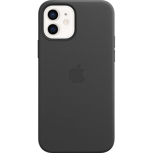 Apple Leather Case for iPhone 12 / 12 Pro - Black