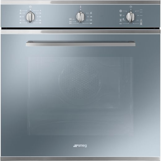 Smeg Cucina SF64M3TVS Built In Electric Single Oven - Silver Glass - A Rated
