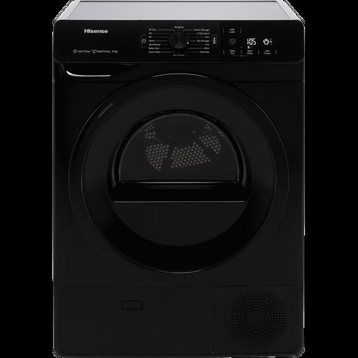 Hisense DHGE901B 9Kg Heat Pump Tumble Dryer - Black - A++ Rated