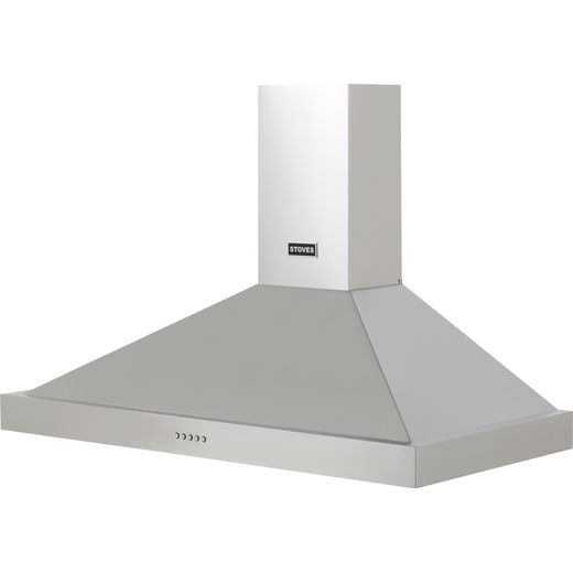 Stoves S1000 STER CHIM 100 cm Chimney Cooker Hood - Stainless Steel - A Rated
