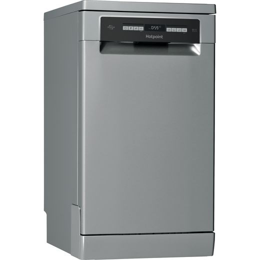 Hotpoint HSFO3T223WXUKN Slimline Dishwasher - Stainless Steel Effect - E Rated