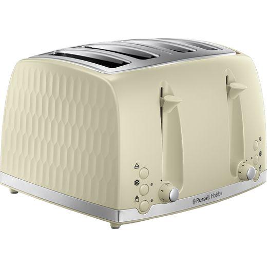 Russell Hobbs Honeycomb 26072 4 Slice Toaster - Cream