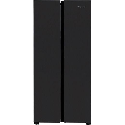 Fridgemaster MS83430FFB American Fridge Freezer - Black - F Rated