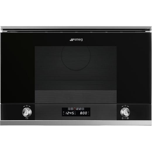 Smeg Linea MP122N1 Built In Microwave - Black