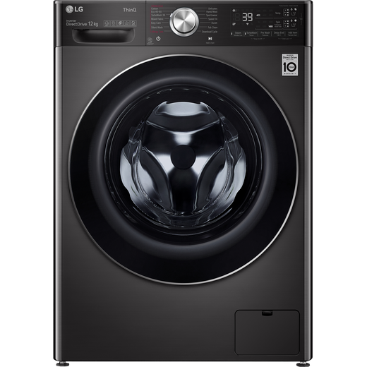 LG V11 F4V1112BTSA Wifi Connected 12Kg Washing Machine with 1400 rpm - Black Steel - A Rated