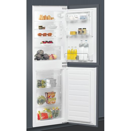 Whirlpool ART4550SF1 Integrated 50/50 Frost Free Fridge Freezer with Sliding Door Fixing Kit - White - F Rated