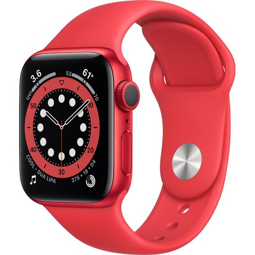 Apple Watch Series 6, 40mm, GPS [2020] - (PRODUCT) RED Aluminium Case with PRODUCT(RED) Sport Band