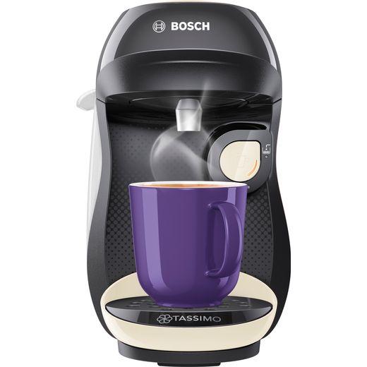 Tassimo by Bosch Happy TAS1007GB Pod Coffee Machine - Black / Cream