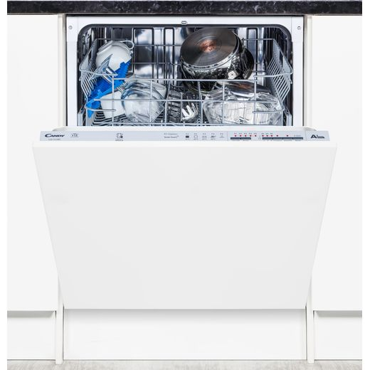 Candy CDI1LS38S Fully Integrated Standard Dishwasher - Silver Control Panel with Fixed Door Fixing Kit - F Rated