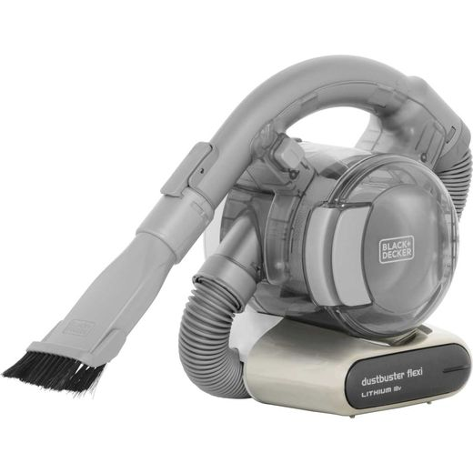 Black + Decker 18v Flexi Dustbuster® with Floor Extension PD1820LF-GB Handheld Vacuum Cleaner with up to 15 Minutes Run Time