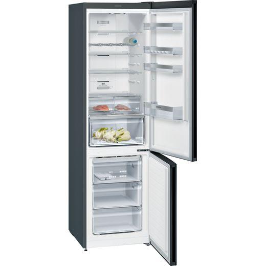 Siemens IQ-300 KG39N7XEDG 70/30 Frost Free Fridge Freezer - Black / Stainless Steel Look - E Rated