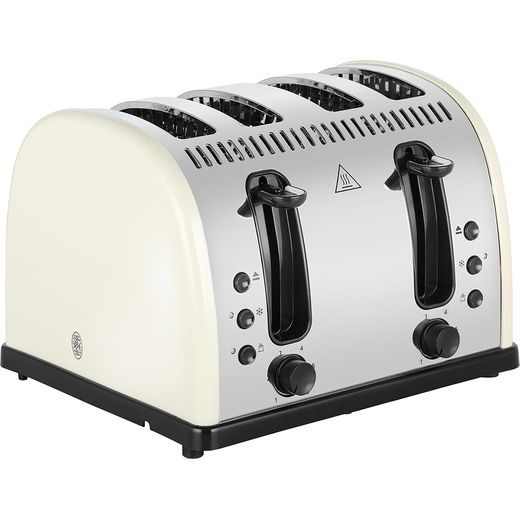 Russell Hobbs Legacy 4 Slice Polished 21302 4 Slice Toaster - Cream
