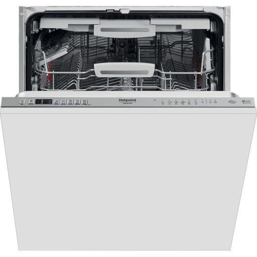 Hotpoint HIO3P23WFEUK Fully Integrated Standard Dishwasher - Stainless Steel Control Panel - D Rated
