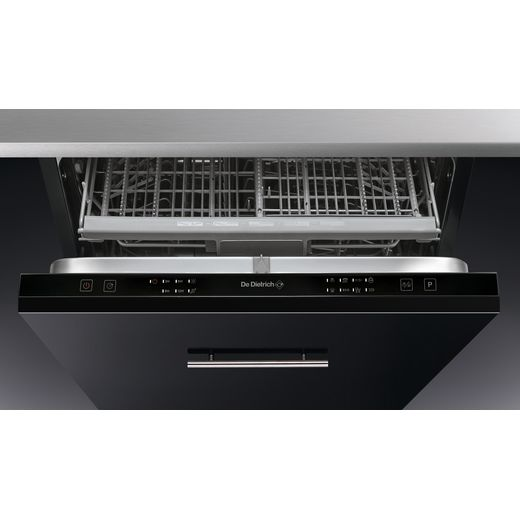 De Dietrich DV14442JU Fully Integrated Standard Dishwasher - Black Control Panel - A++ Rated
