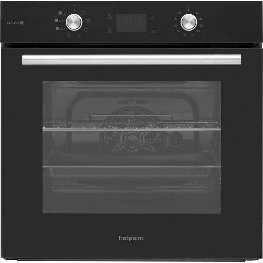 Hotpoint FA4S541JBLGH Built In Electric Single Oven with added Steam Function - Black - A Rated
