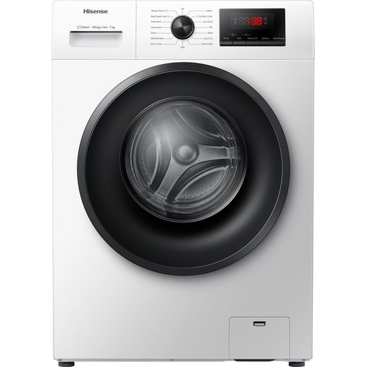 Hisense WFPV7012EM 7Kg Washing Machine with 1200 rpm - White - E Rated