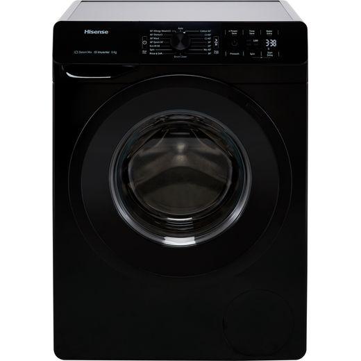 Hisense WFGE90141VMB 9Kg Washing Machine with 1400 rpm - Black - B Rated