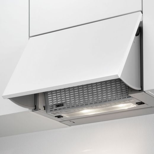Zanussi ZHI612G 60 cm Integrated Cooker Hood - Grey - D Rated