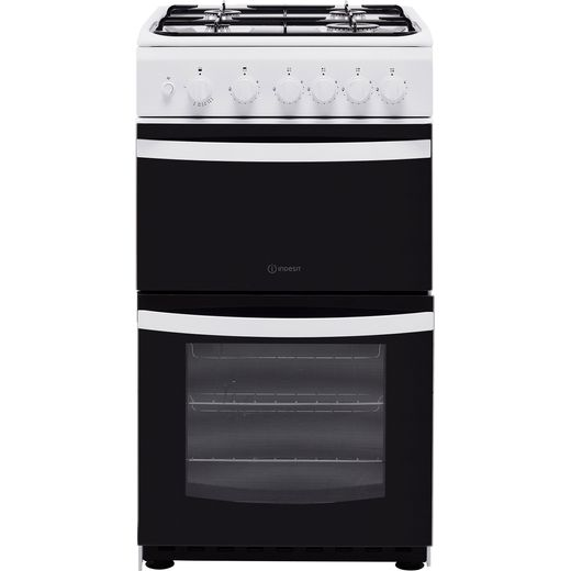 Indesit Cloe ID5G00KMW 50cm Gas Cooker with Full Width Gas Grill - White - A Rated