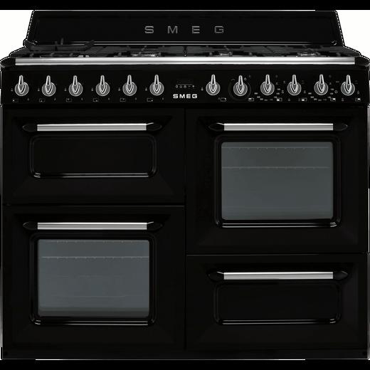 Smeg Victoria TR4110BL1 110cm Dual Fuel Range Cooker - Black - A/A Rated