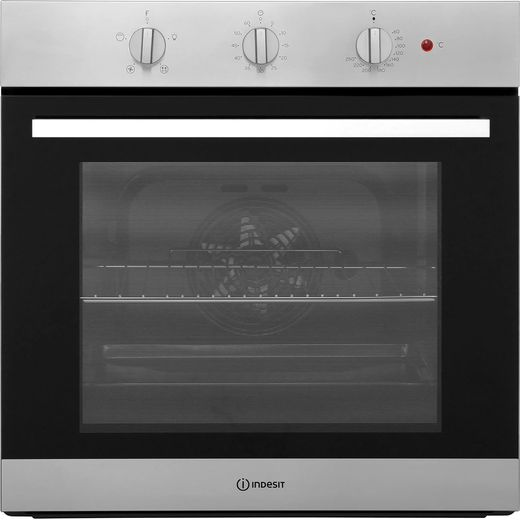 Indesit Aria IFW6330IX Built In Electric Single Oven - Stainless Steel - A Rated