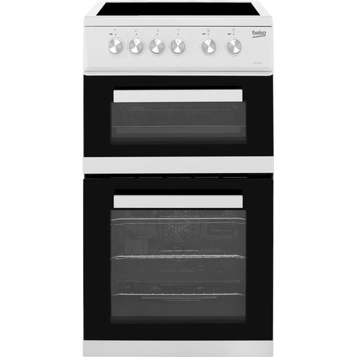 Beko KDVC563AW 50cm Electric Cooker with Ceramic Hob - White - A/A Rated