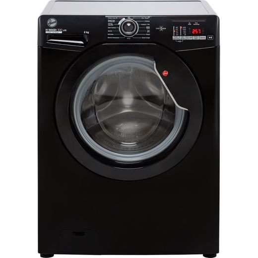 Hoover H-WASH 300 H3W482DBBE/1 8Kg Washing Machine with 1400 rpm - Black - D Rated