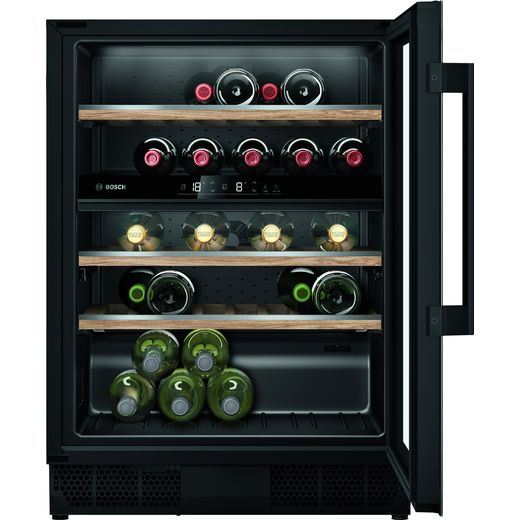 Bosch Serie 6 KUW21AHG0G Built In Wine Cooler - Black - G Rated