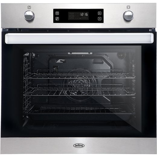 Belling BI602MFPY Built In Electric Single Oven - Stainless Steel - A Rated
