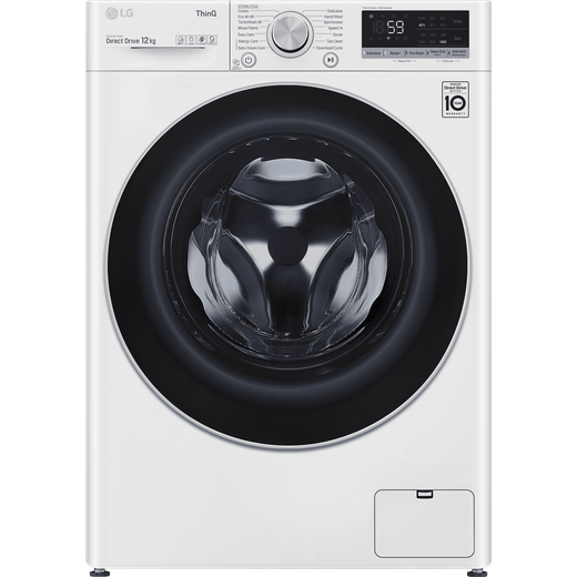 LG V7 F4V712WTSE Wifi Connected 12Kg Washing Machine with 1400 rpm - White - B Rated