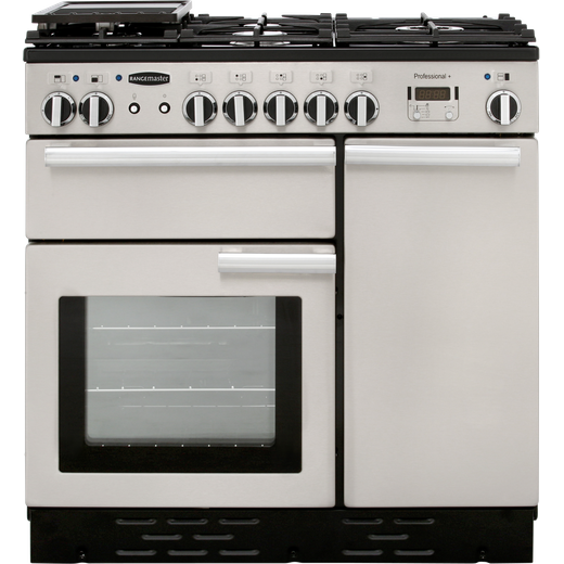 Rangemaster Professional Plus PROP90DFFSS/C 90cm Dual Fuel Range Cooker - Stainless Steel - A/A Rated