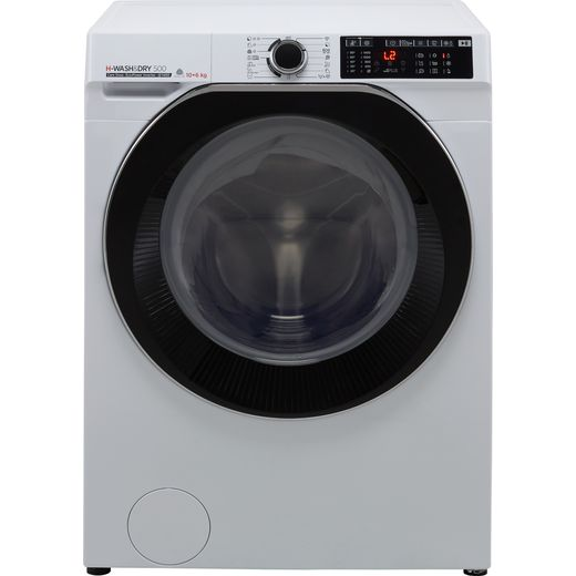 Hoover H-WASH 500 HDD4106AMBC Wifi Connected 10Kg / 6Kg Washer Dryer with 1400 rpm - White - D Rated