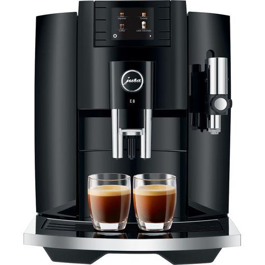 Jura E8 15372 Bean to Cup Coffee Machine - Piano Black