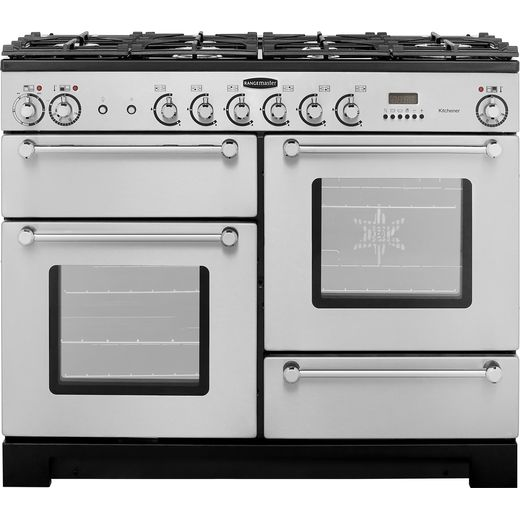 Rangemaster Kitchener KCH110DFFSS/C 110cm Dual Fuel Range Cooker - Stainless Steel / Chrome - A/A Rated