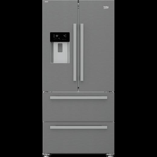 Beko HarvestFresh GNE360520DX American Fridge Freezer - Stainless Steel - F Rated