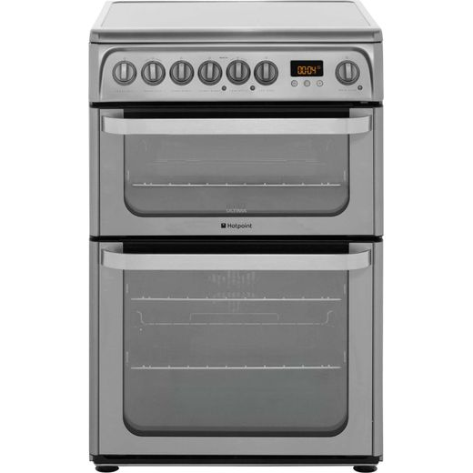 Hotpoint Ultima HUE61XS Electric Cooker with Ceramic Hob - Stainless Steel - A/A Rated