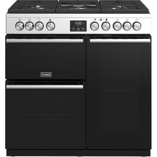 Stoves Precision DX S900G 90cm Gas Range Cooker - Stainless Steel - A/A Rated