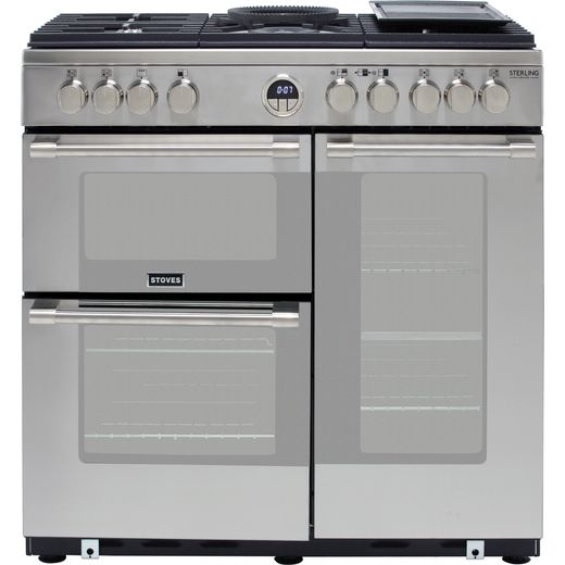 Stoves Sterling Deluxe S900G 90cm Gas Range Cooker - Stainless Steel - A/A Rated