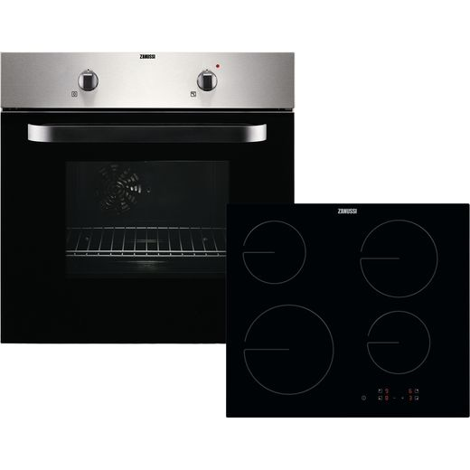 Zanussi ZPVF4131X Built In Electric Single Oven and Ceramic Hob Pack - Stainless Steel - A Rated